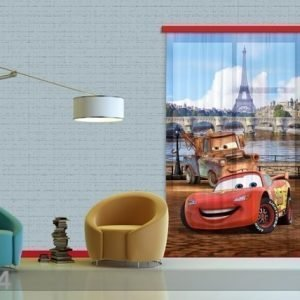 Ag Design Fotoverho Disney Cars Paris 140x245 Cm