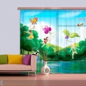 Ag Design Fotoverho Disney Fairies With Rainbow 180x160 Cm