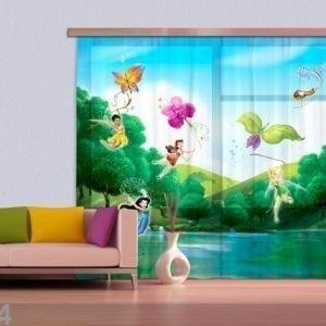 Ag Design Fotoverho Disney Fairies With Rainbow 180x160 Cm