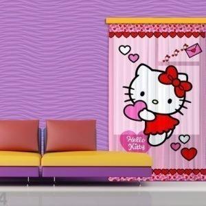 Ag Design Fotoverho Hello Kitty Heart 140x245 Cm