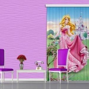 Ag Design Pimentävä Fotoverho Disney Aurora I 140x245 Cm