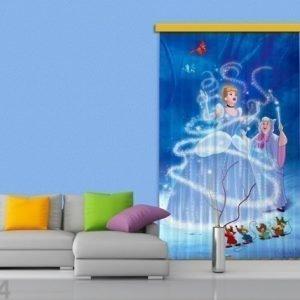 Ag Design Pimentävä Fotoverho Disney Cinderella I 140x245 Cm