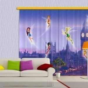 Ag Design Pimentävä Fotoverho Disney Fairies In London 280x245 Cm