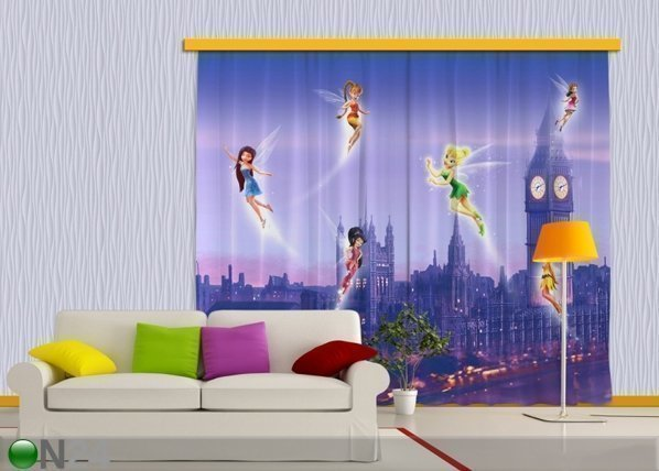 Ag Design Pimentävä Fotoverho Disney Fairies In London 280x245 Cm