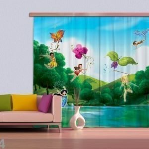 Ag Design Pimentävä Fotoverho Disney Fairies With Rainbow 280x245 Cm