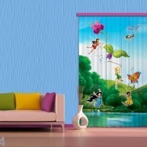 Ag Design Pimentävä Fotoverho Disney Fairies With Rainbow I 140x245 Cm