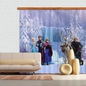 Ag Design Pimentävä Fotoverho Disney Ice Kingdom 280x245 Cm