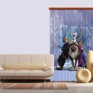 Ag Design Pimentävä Fotoverho Disney Ice Kingdom Ii 140x245 Cm