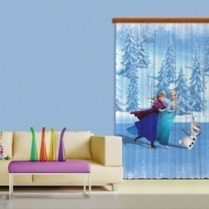 Ag Design Pimentävä Fotoverho Disney Ice Kingdom Iii 140x245 Cm