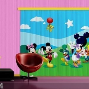 Ag Design Pimentävä Fotoverho Disney Mickey And Friends 280x245 Cm
