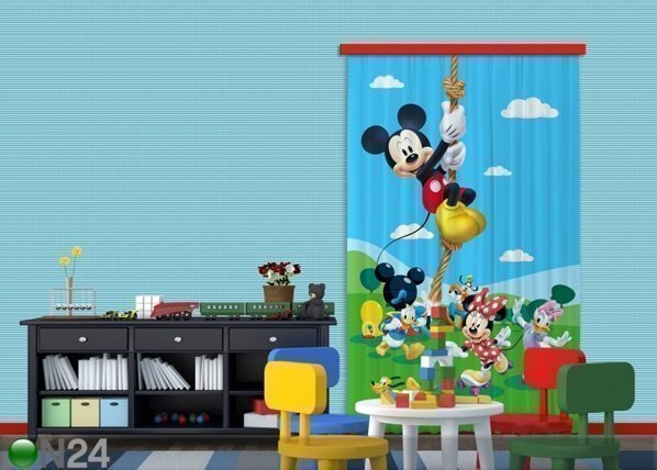 Ag Design Pimentävä Fotoverho Disney Mickey On A Rope I 140x245 Cm