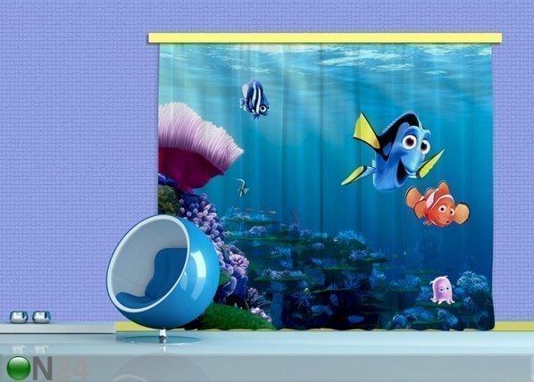 Ag Design Pimentävä Fotoverho Disney Nemo 280x245 Cm