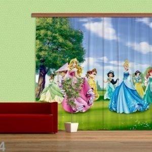 Ag Design Pimentävä Fotoverho Disney Princess 280x245 Cm