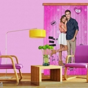 Ag Design Pimentävä Fotoverho Disney Violetta I 140x245 Cm