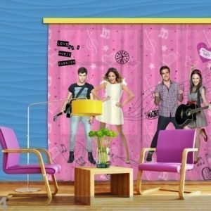 Ag Design Pimentävä Fotoverho Disney Violetta Sings 280x245 Cm