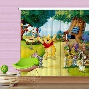 Ag Design Pimentävä Fotoverho Disney Winnie The Pooh 280x245 Cm