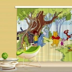 Ag Design Pimentävä Fotoverho Disney Winnie The Pooh And Friends 280x245 Cm