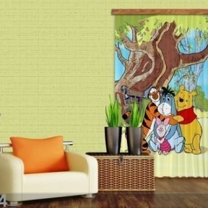 Ag Design Pimentävä Fotoverho Disney Winnie The Pooh And Friends I 140x245 Cm