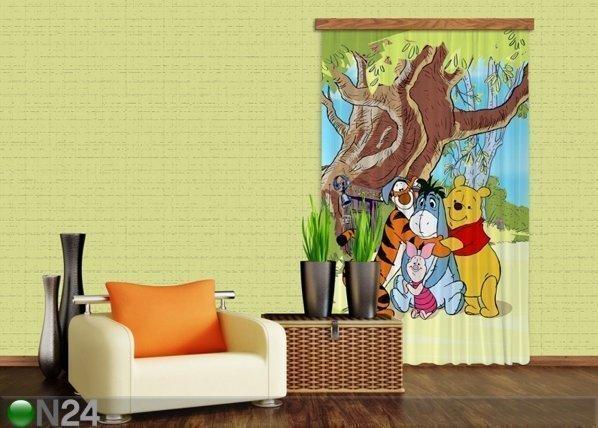Ag Design Pimentävä Fotoverho Disney Winnie The Pooh And Friends I 140x245 Cm