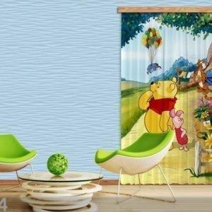 Ag Design Pimentävä Fotoverho Disney Winnie The Pooh I 140x245 Cm