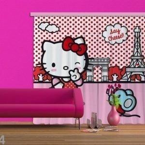 Ag Design Pimentävä Fotoverho Hello Kitty With Mouse 280x245 Cm