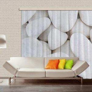 Ag Design Pimentävä Fotoverho White Stones 280x245 Cm