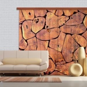Ag Design Pimentävä Fotoverho Wood 280x245 Cm