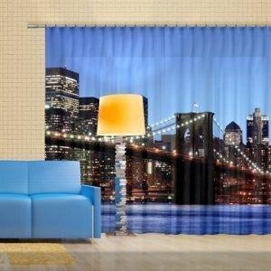 Ag Design Puolipimentävä Fotoverho Brooklyn 280x245 Cm
