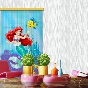 Ag Design Puolipimentävä Fotoverho Disney Ariel 140x245 Cm