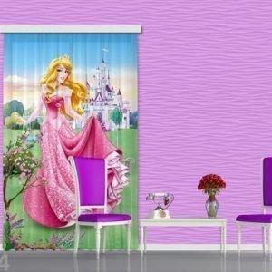 Ag Design Puolipimentävä Fotoverho Disney Aurora 140x245 Cm