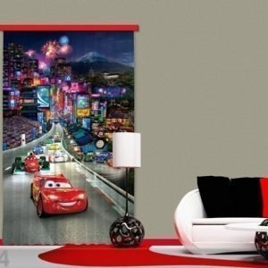Ag Design Puolipimentävä Fotoverho Disney Cars 140x245 Cm
