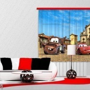 Ag Design Puolipimentävä Fotoverho Disney Cars 180x160 Cm