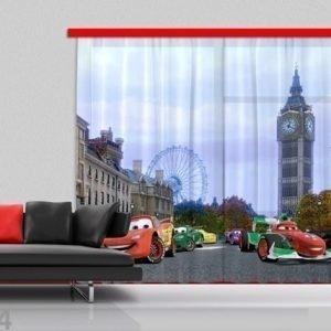 Ag Design Puolipimentävä Fotoverho Disney Cars 280x245 Cm