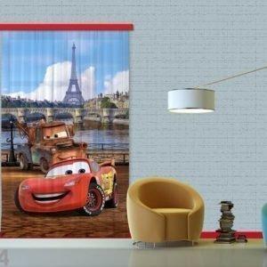 Ag Design Puolipimentävä Fotoverho Disney Cars Paris 140x245 Cm