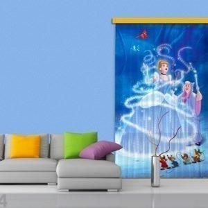 Ag Design Puolipimentävä Fotoverho Disney Cinderella 140x245 Cm
