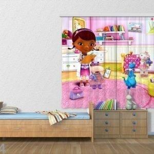 Ag Design Puolipimentävä Fotoverho Disney Doc.Mcstuffins 180x160 Cm