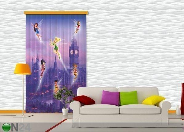 Ag Design Puolipimentävä Fotoverho Disney Fairies In London 140x245 Cm