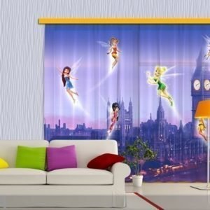 Ag Design Puolipimentävä Fotoverho Disney Fairies In London 280x245 Cm