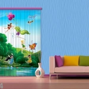 Ag Design Puolipimentävä Fotoverho Disney Fairies With Rainbow 140x245 Cm