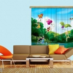 Ag Design Puolipimentävä Fotoverho Disney Fairies With Rainbow 180x160 Cm