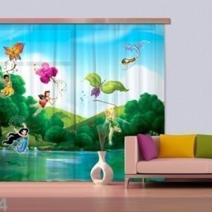 Ag Design Puolipimentävä Fotoverho Disney Fairies With Rainbow 280x245 Cm