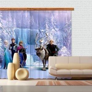 Ag Design Puolipimentävä Fotoverho Disney Ice Kingdom 180x160 Cm