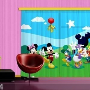 Ag Design Puolipimentävä Fotoverho Disney Mickey And Friends 280x245 Cm