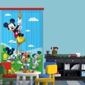 Ag Design Puolipimentävä Fotoverho Disney Mickey On A Rope 140x245 Cm