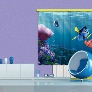 Ag Design Puolipimentävä Fotoverho Disney Nemo 180x160 Cm