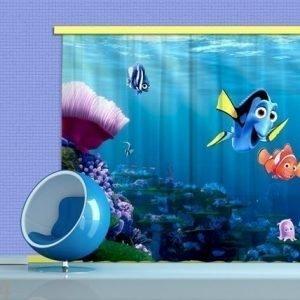 Ag Design Puolipimentävä Fotoverho Disney Nemo 280x245 Cm