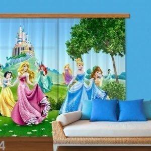 Ag Design Puolipimentävä Fotoverho Disney Princess 280x245 Cm