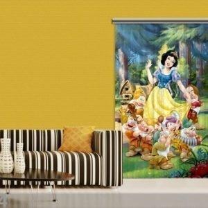 Ag Design Puolipimentävä Fotoverho Disney Snow White 140x245 Cm