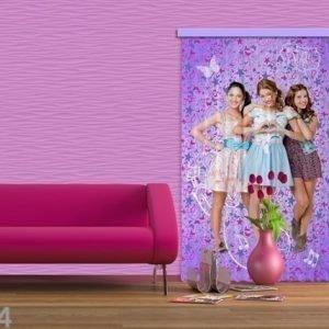Ag Design Puolipimentävä Fotoverho Disney Violetta 140x245 Cm