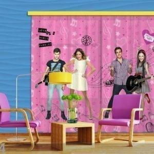Ag Design Puolipimentävä Fotoverho Disney Violetta 180x160 Cm